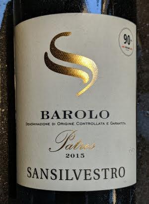 San Silvestro Patres uit 2015, een Barolo van Gall & Gall