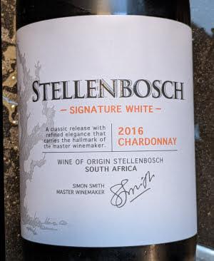 Signature White, een op hout opgevoede Chardonnay uit Stellenbosch