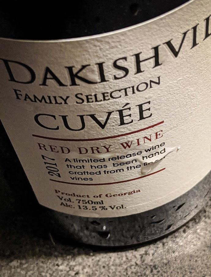 Dry Red Wine van Dakishvili, een Family Selection wijn met een Grand Cru kwaliteit