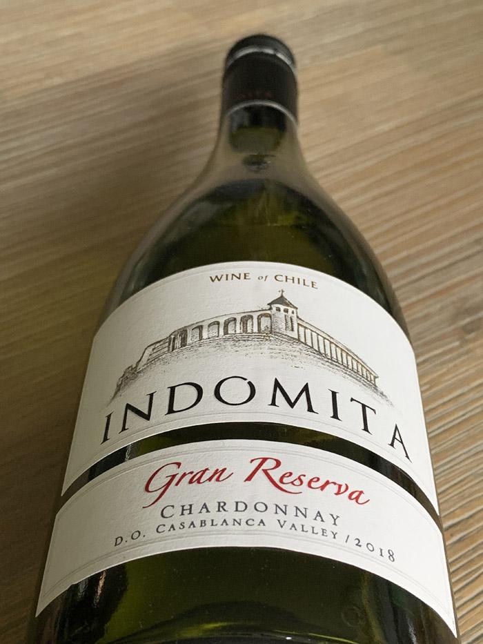 Indomita Gran Reserva Chardonnay 2018; prima supermarktwijn!