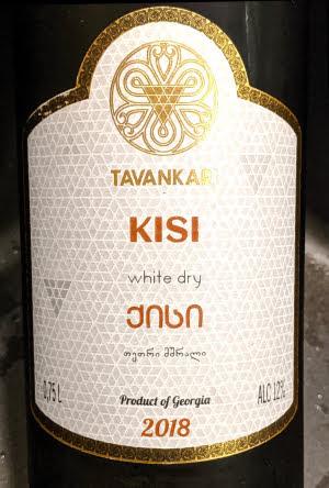 Tavankari Kisi, witte droge wijn uit Georgië