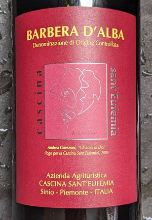 Barbera d'Alba van Sant'Eufemia. Authenticiteit en complexiteit uit Piemonte