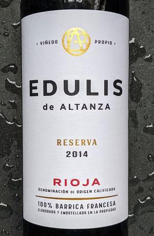 Edulis de Altanza Reserva, een prachtige rode wijn uit Spanje