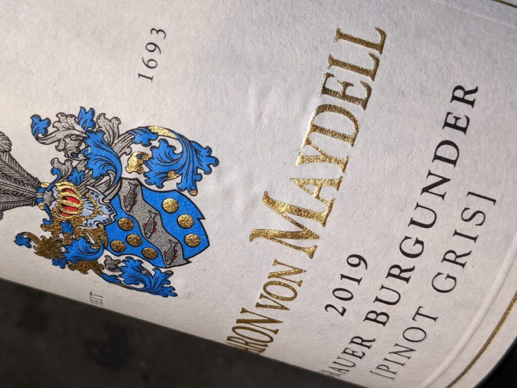 Baron von Maydell Grauer Burgunder, een sprankelende jonge witte Duitse wijn