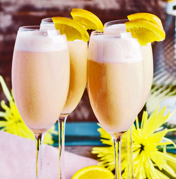 Champagne met ijs, een heerlijk zoet nagerecht