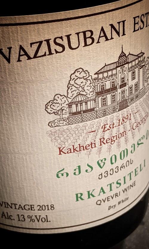 Rkatsiteli van Vazisubani Estate, een oranje wijn van hoog niveau