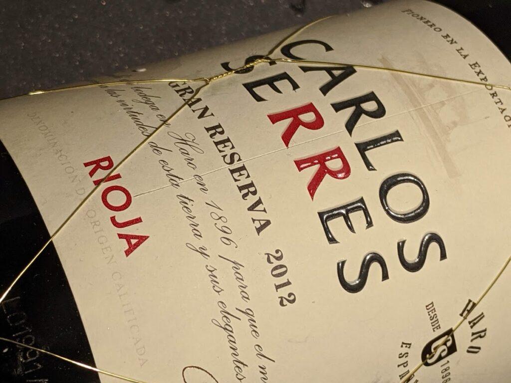 Carlos Serres Rioja Gran Reserva. Topkwaliteit uit Spanje