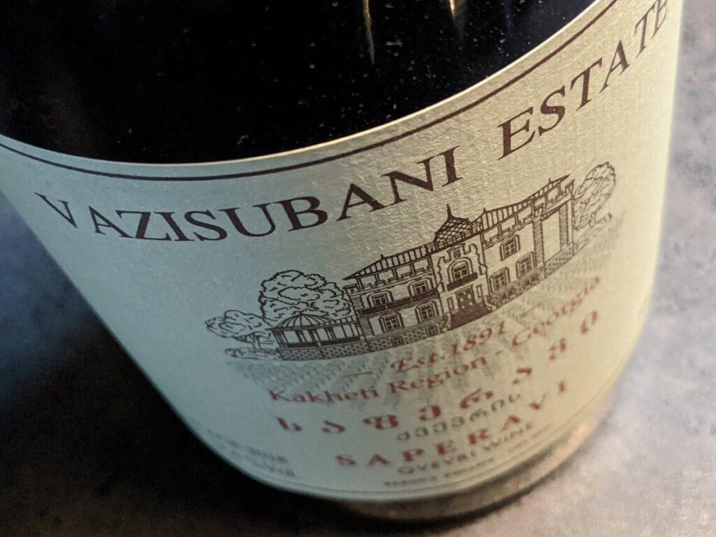 Vazisubani Estate, een rode wijn en het beste van het beste