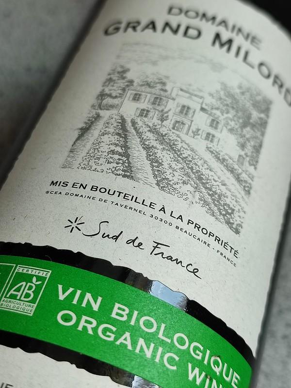Domaine Grand Milord Rouge, een biologische rode wijn en supereerlijk